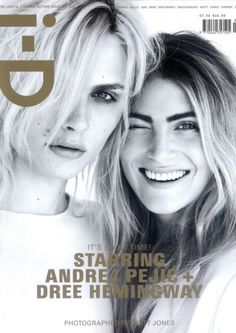A duo of blond bombshells, Andrej Pejić & Dree Hemingway on ID Magazine cover. Le Vatican, Fashion Magazine Cover, Fashion Cover, Magazine Covers, Magazine Mode, Model Magazine, Magazine Design, Id Cover, British Magazines