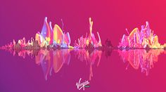 Virgin Mobile (Treatment) on Behance Behance, Neon Signs, Map, Behavior, Location Map, Maps