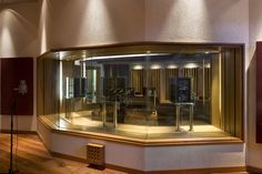 """Recording Studio 5.1 Control Room with """"floating"""" speakers [WSDG Architectural Acoustics]"""