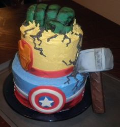 Avengers Cake.jpg. Check this out @Erica!
