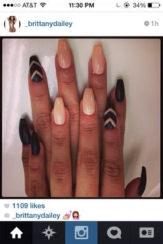 "Kinda loving the shape it's more ""in"" than square but not almond or stiletto either (which I'm not into) hmmmm..."