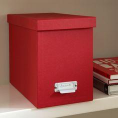 19x35x27 cm Dark Grey, White, Orange, Brown, Light Grey Filing Box with 8 Hanging Files Filing Box with 8 Suspension Files | Bigso
