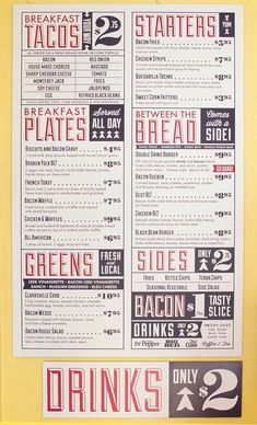 Design menu restaurant layout branding New Ideas Restaurant Branding, Restaurant Menu Design, Restaurant Menu Card, Pizza Branding, Restaurant Restaurant, Identity Branding, Visual Identity, Menu Vintage, Vintage Type
