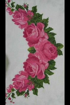 Christmas Cross, Knitting Designs, Model Trains, Needlework, Diy And Crafts, Cross Stitch, Bouquet, Embroidery, Canvas