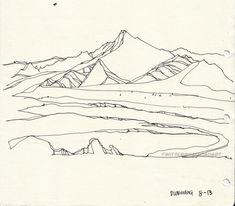 mountain :: line drawing