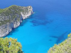 Clear blue sea in Albania