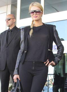 Paris Hilton Braless See-Thru Top + Pokies on TaxiDriverMovie.com