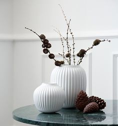 Are you looking for a unique design vase? The elegant Hammershoei vase inspired by Svend Hammershøi's works has a timeless and modern idiom. White Candle Holders, Nordic Christmas, Christmas Decorations, Holiday Decor, Deco Design, Scandinavian Home, Danish Design, Decorative Accessories, Modern Decor
