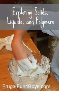 Exploring polymers and how they are different from solids and liquids - fun science demonstration!