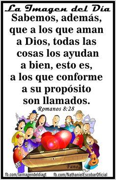 """17 de octubre de 2014 - """"A los que aman a #Dios, todas las cosas les salen bien"""" #UnaVsinBniV Ilustración: Fano"""