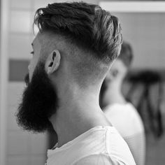hairstyle and beard combination