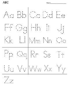 Printable Alphabet Letter Tracing Worksheets | Alphabet Practice Worksheet