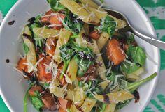 24. Balsamic Glazed Sweet Potato Pasta #healthy #sweetpotato #recipes https://greatist.com/health/45-delicious-and-healthy-sweet-potato-recipes