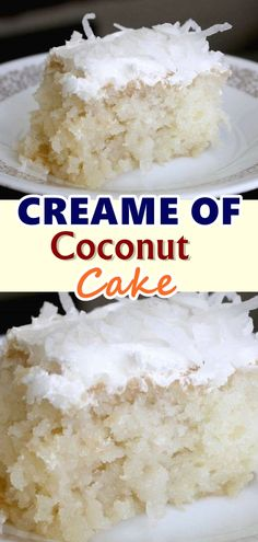 Creame of Coconut Cake I'm going to confess that at some point in my life I was addicted to coconut. There is a good reason why vegans love coconuts, they are so versatile and is a great healthy alternative to a lot of fats used in cooking and baking. Köstliche Desserts, Delicious Desserts, Dessert Recipes, Yummy Food, Plated Desserts, Coconut Recipes, Baking Recipes, Coconut Deserts, Best Coconut Cake Recipe
