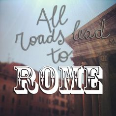 Did you know all roads lead to #Rome ?