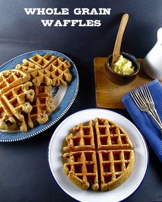 AMAZING Whole Grain Waffles .... with all kinds of delicious flaxseed meal, oats, whole wheat and nutty goodness...(I used Walnuts instead of Pecans)