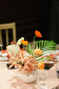Bridal Table, Wedding Table, Centerpieces, Table Decorations, Banquet, Tablescapes, Wedding Flowers, Orange, Floral