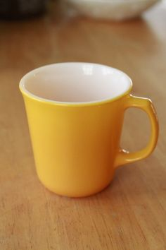 Corelle yellow mug, found for $2.99