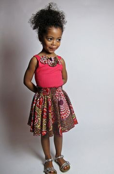 African Inspired Children's Fashion - Little Beauty African Dresses For Women, African Attire, African Wear, African Women, Girls Dresses, African Outfits, African Style, African Babies, African Children