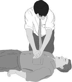 """Prueba-Averigüe que verdaderamente esta inconsciente: Sacuda la persona y grite """"¿Está bien?"""" Frote firmemente el esternón con los nudillos. Paramédicos-Llame al9-1-1o pídale a otra persona que…"""