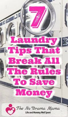 Are you a laundry rebel? These 7 laundry tips will break all the rules to save you time and money. Find ideas about clothing, detergents, and appliances.