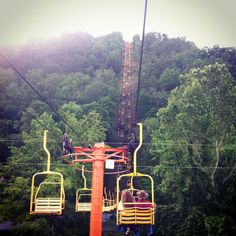 sky lift in Gatlinburg, Tennessee. One of the best childhood vacation memories with my family