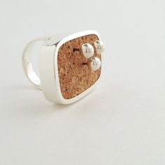 Sterling Silver, Cork, Map Pins x 3.  Crafted & assembled by hand in small batches in New York.