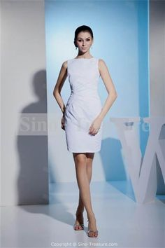 Awesome white sheath wedding dress