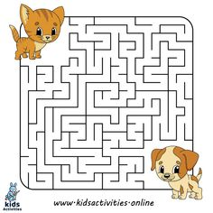 Free Printable Mazes for kids Sensory Activities For Preschoolers, Free Activities For Kids, Free Preschool, Preschool Worksheets, Therapy Activities, Expirements For Kids, Hand Crafts For Kids, Maze Games For Kids, Puzzles For Kids