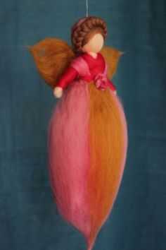 Rosenfee,Fee,Waldorfart von Jalda auf www.DaWanda.com/Shop/Jalda-Filz #DIY…