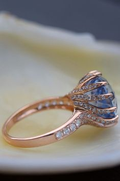 42 Most Popular And Trendy Engagement Rings For Women ❤️ engagement rings for women unique rose gold sapphire stone engagement ring ❤️ See more: http://www.weddingforward.com/engagement-rings-for-women/ #weddingforward #wedding #bride #engagementrings
