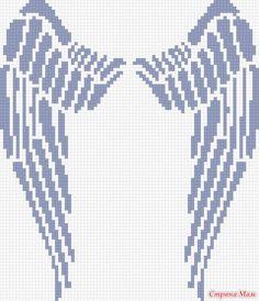 "Джемпер "" Крылья"" Knitting Stitches, Embroidery Stitches, Knitting Patterns, Cross Stitch Designs, Cross Stitch Patterns, Crochet For Dummies, Pixel Crochet Blanket, Blackwork Cross Stitch, Minecraft Pixel Art"