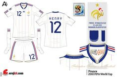 France away kit for the 2002 World Cup Finals.