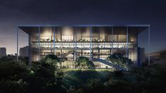 Construction started today on a Singapore design school that will produce all of its own energy and more.