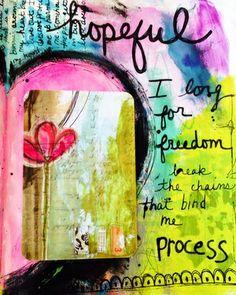 Hopeful....I long for freedom, break the chains that bind me...process