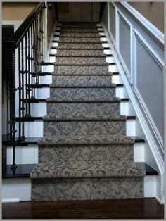 Our gorgeous product, Rave Review, on a staircase.  So elegant, so soft! From Tuftex Carpets of California's Impressions