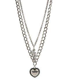 Betsey Johnson Black Electric Love Pendant Necklace | Dillards.com