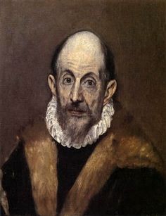 """El Greco - Portrait of a Man - Doménikos Theotokópoulos (Greek: Δομήνικος Θεοτοκόπουλος [ðoˈminikos θeotoˈkopulos]; October 1541 – 7 April most widely known as El Greco (""""The Greek""""), was a Greek painter, sculptor and architect of the Spanish Renaissance. World Famous Painters, Famous Artists, White Canvas Art, Large Abstract Wall Art, Creta, Spanish Painters, Chef D Oeuvre, Oil Painting Reproductions, Metropolitan Museum"""