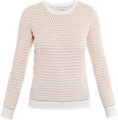 Jonathan Saunders Pink Oval Cotton Sweater