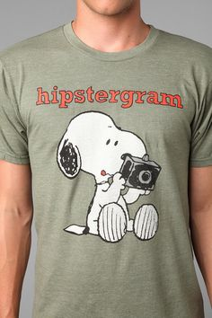 Snoopy Hipstergram Tee  #UrbanOutfitters - $24 (Currently $17)