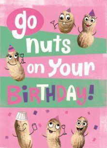 Verjaardagskaart vrouw - birtyday-nuts