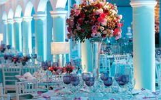 decoração de festa com flores 15 anos - Pesquisa Google