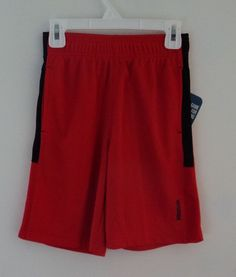 New PlayDry Red Reebok Boy's Althetic Sports Gym Shorts Size 7 #Reebok #Everyday