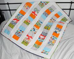 Stacked Animals Baby Quilt