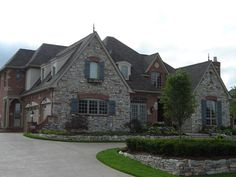 Tudor, French, Country and Southern Style Homes , Mix of materials. Yes!!!!!!!!!!!!!!!!!!!