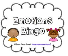 Practice emotions while playing bingo! This adorable freebie includes 3 different types of calling cards: Emotion vocabulary Ready to learn words Energy levels Great for all kids working on social skills and emotions!