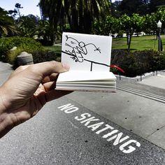 Sliding rebellion ## #Elyxyak #SkateBoard #skating #GoldenGatePark #SanFrancisco