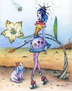 original watercolor for sale. Whimsical wall decor. Pop surrealism. Girl and bunny. Watercolor Print, Watercolor Paintings, Magical Power, Pop Surrealism, Whimsical, Bunny, Fine Art Prints, Wall Decor, Etsy