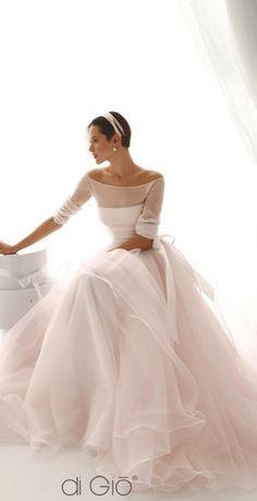 pink ballgown wedding dress by La Spose di Gio Abiti Da Sposa 1ac6e228407