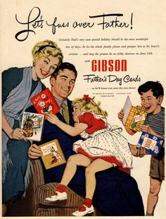 vintage+father's+day+cards | 1950s USA Father's Day Cards Gibson Magazine Advert Picture: Courtesy ...